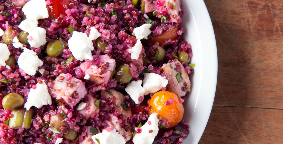 quinoa beet feta bowl recipe