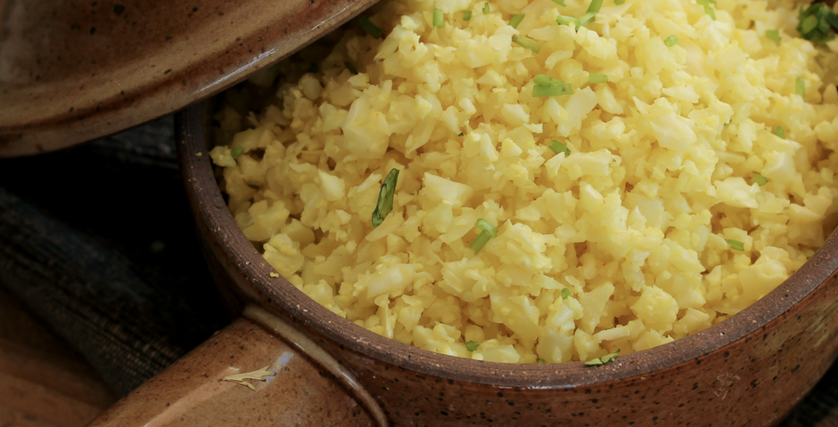 Cauliflower rice free food diet